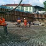 betonáž s armaturou