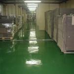 rekonstrukce podlahy - zelený pigment